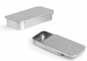 Metal Slide Top Tin Containers (Small) for Crafts Geocache Storage Survival Kit