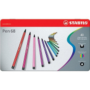 Stabilo Point 68 40-colour Metal Tin Set