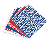 Nautical Multi-pack Printed Craft Vinyl 6 Sheets 12x12 for Vinyl Cutters