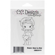C.C. Designs La Rue Cling Stamp, 8.9cm by 5.1cm , Puppy Kiki