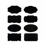 Allydrew Set of 32 Chalkboard Labels / Chalkboard Stickers for Organising, Labelling, Gift Tags, Drink / Wine Markers, and Weddings - 5.1cm x 3.2cm