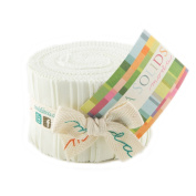Bella Solids Porcelain Jr Jelly Roll (9900JJR 182) by Moda House Designer for Moda
