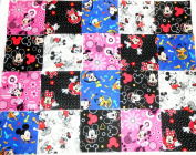 40 13cm Mickey/Minnie Mouse quilting squares Charm Pack