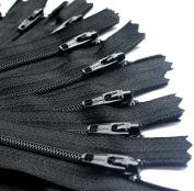 YKK Zipper, 18cm , #3 For Skirt & Dress, Closed Bottom ~ 580 Black