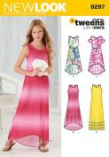 Simplicity Creative Patterns New Look 6297 Girls' Knit Dress, A