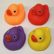 4 x Baby Toddler Child Bath Time Rubber Ducks Squeeky Squirting