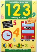 Preschool Sticker Activity Book 123 Learning to Count