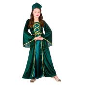 (L) Girls Mediaeval Tudor Princess Costume for Royal Fancy Dress Kids Childs Large Age 8-10 years