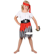 (L) Girls High Seas Pirate Girl Costume for Sea Buccaneer Fancy Dress Kids Childs Large Age 8-10 years
