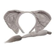 Animal Ears & Tail Set Outfit Accessory for Fancy Dress Elephant