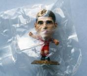 Steven Gerrard MicroStars Series 17 figure - Liverpool Home Kit - Gold Base MC11801 - similar to SoccerStarz