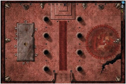 Dungeons & Dragons - 50cm x 80cm Red Hall Of Vor Rukoth Game Mat - GF972760 - Gale Force Nine