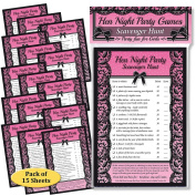 HEN NIGHT PARTY GAMES - Fun Scavenger Hunt Game for Hen night, Hen do, Bridal shower or Girl's Night Out