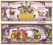Novelty Dollar The Flintstones Million Bedrock Dollar Bills x 4 Fred Wilma Barney Betty Rubble
