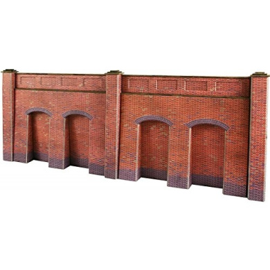 Metcalfe Models PO244 OO/HO Scale Retaining Walls Red Brick Style