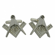 Masonic Cufflinks (with G) in Fine Pewter