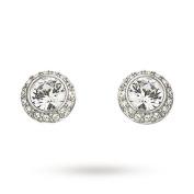 Mytoptrendz Crystal Stud Earrings In silver Tone