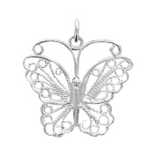 Helios Bijoux Pendant Butterfly 925 Solid Silver 3 g New