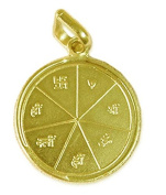 Karya Siddhi Yantra Pendant Copper Gold Plated Blessed And Energised Locket