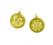 Lagna Yog Yantra Pendant Copper Gold Plated Blessed And Energised Locket