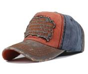 Men's Distressed Vintage Baseball Cap Snapback Trucker Hat, Outdoor Sports Baseball Hat, Hiking Hat, Running Hat