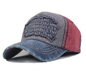 Men's Distressed Vintage Baseball Cap Snapback Trucker Hat, Sports Baseball Hat, Hiking Hat