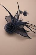 Allsorts® Dark Navy Beak Clip Fascinator Weddings Ladies Day Race Royal Ascot