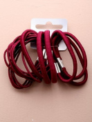 Hair elastics - Mixed burgundy hair elastics x 18