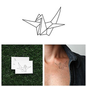 Tattify Origami Crane Temporary Tattoo - Wishful Thinking (Set of