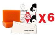 (Pack of 6) Kojie San Skin Lightening Kojic Acid Soap 2 Bars - 65g