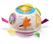 VTech Baby Crawl and Learn Lights Ball - White and Pink