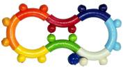 Hess Wooden Baby Toy Basinet/ Stroller Clip On Clown Felix