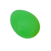 Egg Shape Hand Therapy Exercise Ball, Medium Resistance, Single Packs, Green