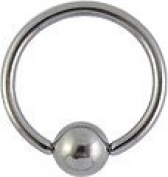 Titanium Steel BCR - nipple ring - Eyebrow - Ear - Piercing - Body jewellery - Available in in different sizes.