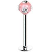 Pink Crystal Ball Labret Monroe