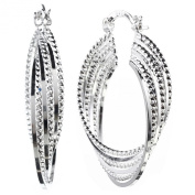 ANDI ROSE Fashion Jewellery 925 Sterling Silver Plated Hoop Stud Clip On Earrings for Women