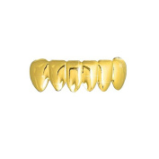 Bottom Row Hiphop bling Grillz Removable Teeth Gold plated