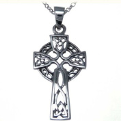 Sterling Silver Celtic Cross Pendant With 46cm Silver Chain