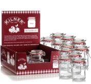 12 New Kilner Vintage Square Glass Clip Top Airtight Spice Herb Storage Jam Jars