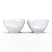 Fiftyeight Products Set of Dip Bowls in Kissing and Grinning Designs