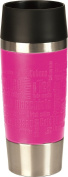 Emsa 513550 Travel Mug insulated drinking cup with Quick Press closure, 360 ml, raspberry