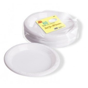 Disposable Party Picnic Birthday Wedding Deep Fill Round Plastic Plates 25cm 50 Pack