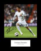 Cristiano Ronaldo #5 Signed Mounted Photo 10 x 8 Print
