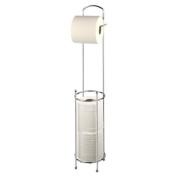 New Free Standing Toilet Roll Holder Chrome Paper Tissue Storage Dispenser Stand Shopmonk