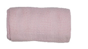 Baby Cellular Blanket Pink -One Size