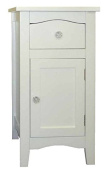 White Somerset Drawer and Cupboard Bedside Table Storage Unit
