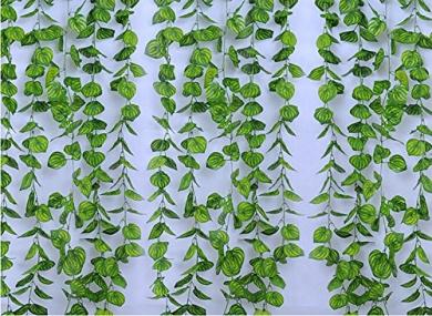RayLineDo 2.4m Artificial ivy Green Vine Leaf Garland Plants Fake Foliage Flowers Decoration