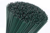 250g green lacquered (75 Wires) 36cm Florists Thick Stub Wire 18 Gauge