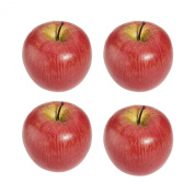 TOOGOO(R) 4 Large Artificial Red Apples Decorative Fruit