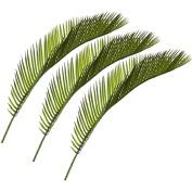 Set of 3 Artificial 41cm Cycas Palm Leaves - Decorative Plastic Foliage